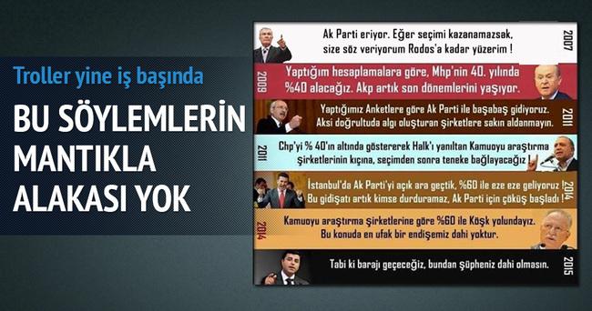 AK Parti'nin barajı geçemeyeceğini söyleyen trollere ibretlik cevap