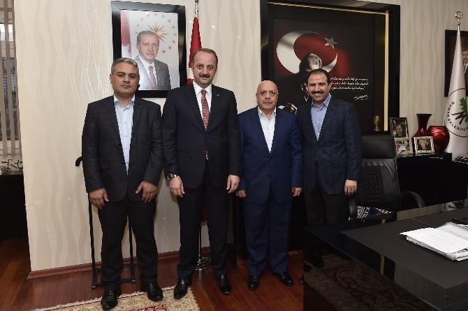 Hak-iş Başkanı Arslan'dan Akgül'e Ziyaret