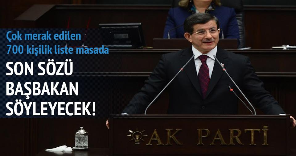 700 kişilik liste Davutoğlu'nda