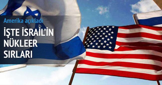 ABD, İsrail'in nükleer sırlarını açıkladı