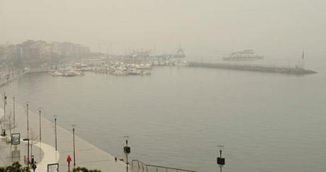 Çanakkale Boğazı'nda sis