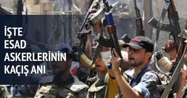 Esad askerlerinin panik içinde kaçış anları