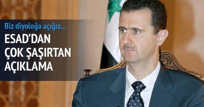 Esad'dan 'ABD ile diyaloğa açığız' mesajı
