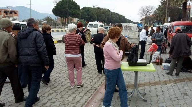Turistlerden Germencik İncir Pazarına Yoğun İlgi