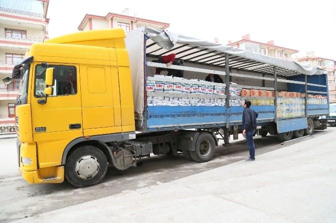 Beypazarı'ndan Suriye'ye 28 Ton Gıda Yardımı