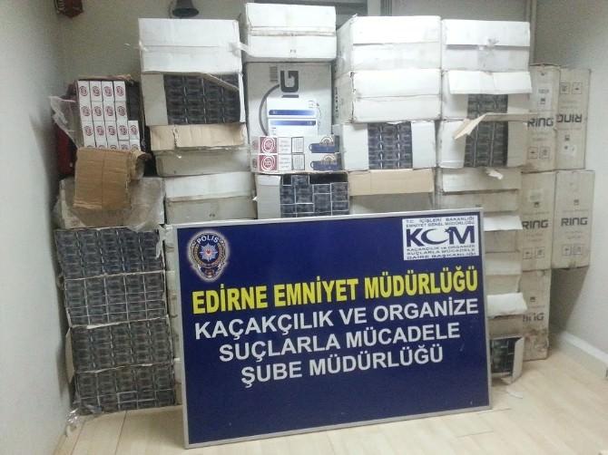 Edirne'de Kaçak Sigaraya Geçit Yok