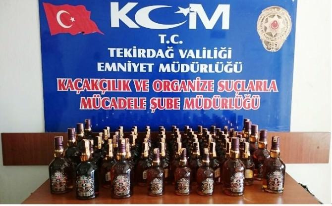 Tekirdağ'da Gümrük Kaçağı İçki Ele Geçirildi