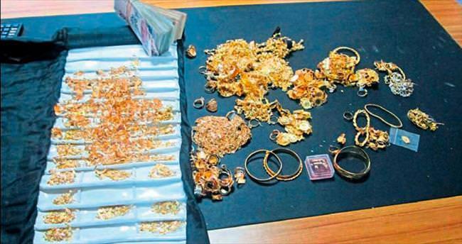 Polis çalınan altınları buldu