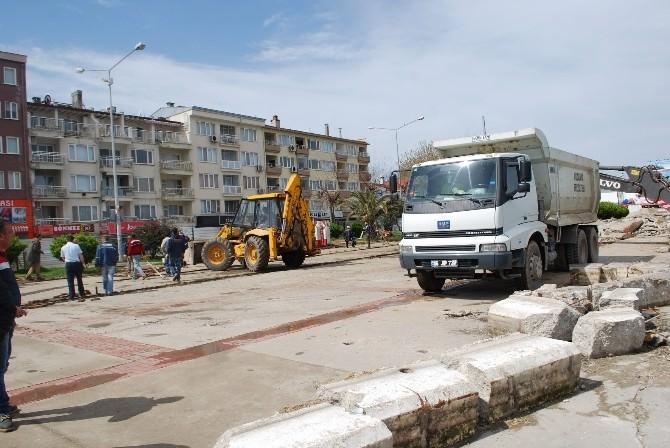 Mudanya'da Sahil Düzenleme Çalışmaları Başladı