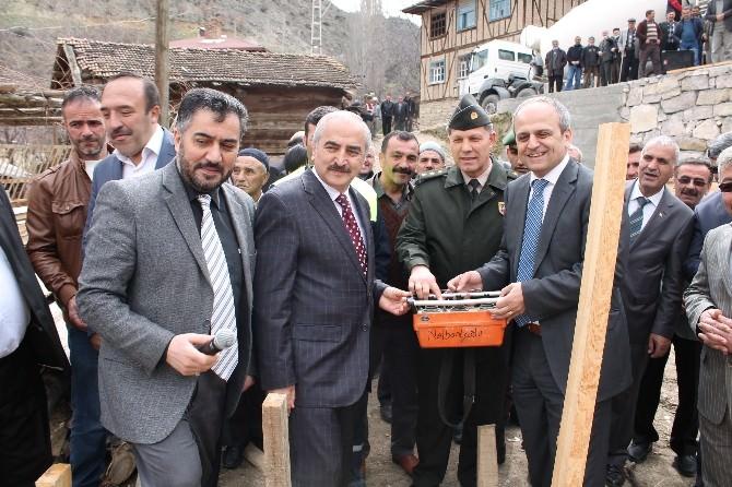 Tosya Karabey Köyüne Kur'an Kursu Temeli Atıldı
