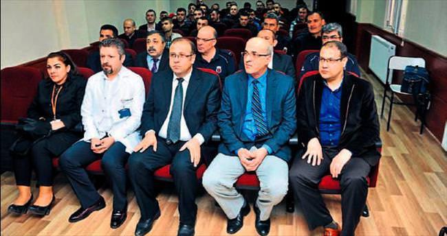 Kader mahkumlarına grip semineri verildi