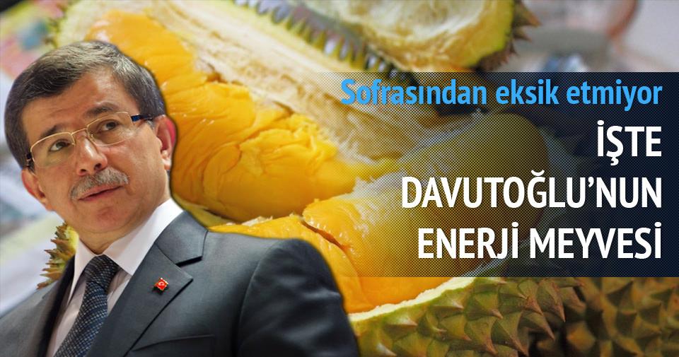 Davutoğlu'nun enerji meyvesi: Durian