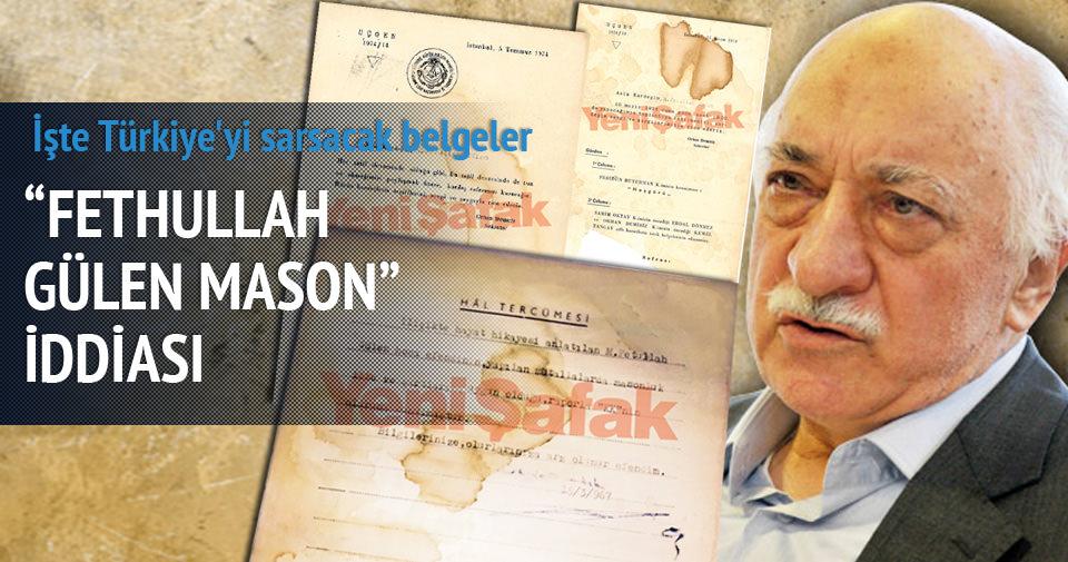 İşte Fethullah Gülen'in Masonluk belgeleri