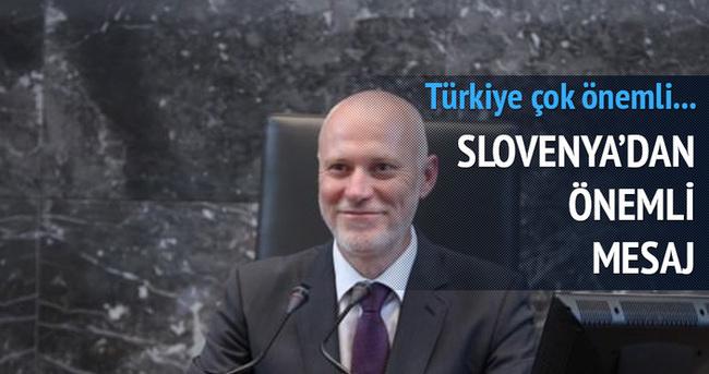 Slovenya'dan önemli Türkiye mesajı