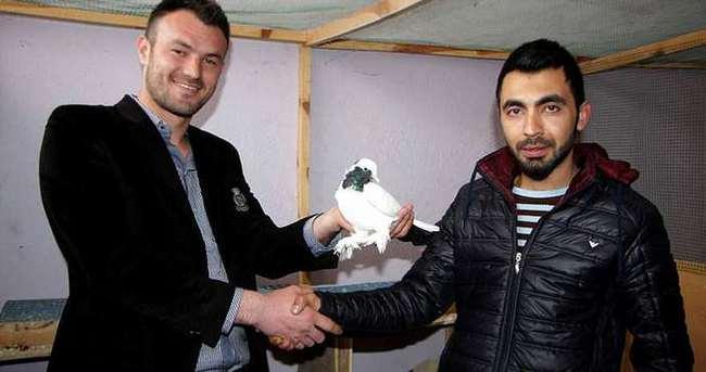İki yıldır aradığı güvercine 10 bin lira verdi
