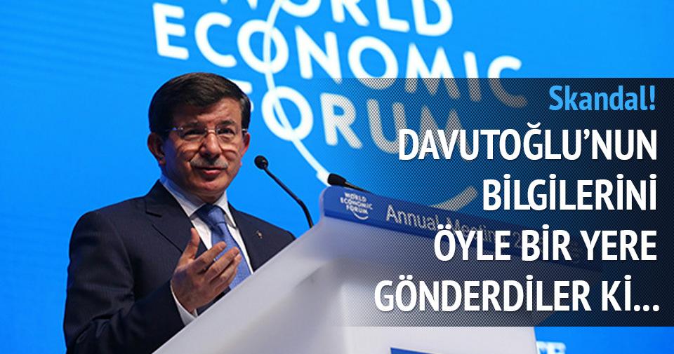 O ülkede Başbakan Davutoğlu'nun bilgileri sızdırıldı