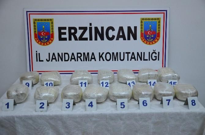 Erzincan'da 16 Kilo Esrar Ele Geçirildi