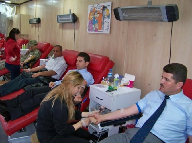 Hassa'da Kızılaydan Kan Bağışı Kampanyası