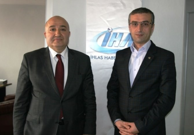 MHP'li Şahin'den İHA'ya Ziyaret