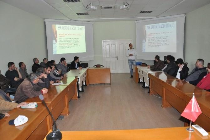 Malkara Belediyesi Personeline Temel İş Sağlığı Ve Güvenliği Eğitimi Verildi