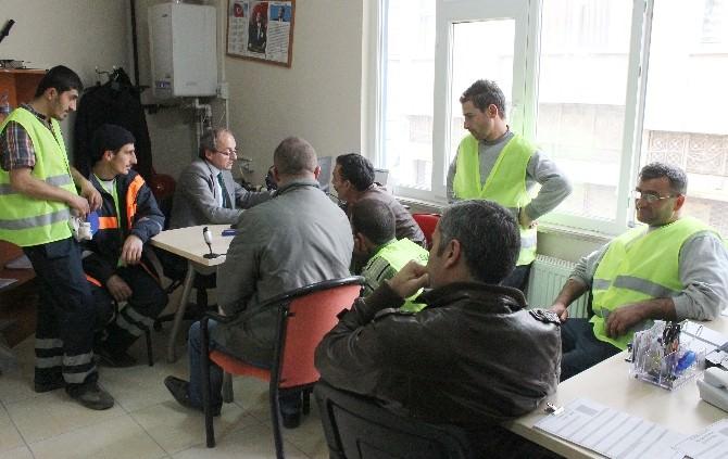 Tekkeköy'de Temizlik Çalışanlarına Sağlık Kontrolü