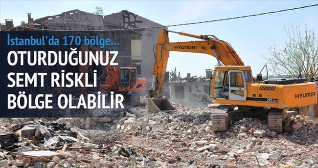 İstanbul'da 170 riskli bölge var