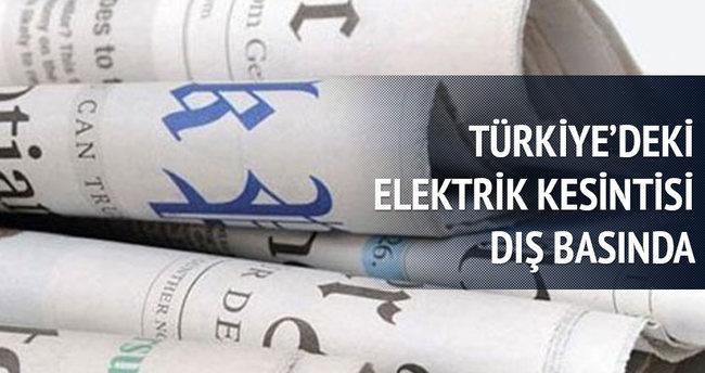 Türkiye'deki elektrik kesintisini dış basın da duyurdu