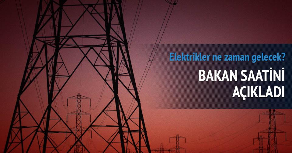 Elektrikler ne zaman gelecek? Bakandan 'Elektrik' açıklaması