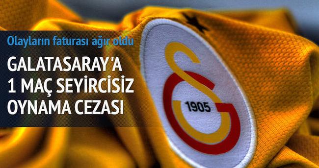 Galatasaray Liv Hospital'a 1 maç ceza!
