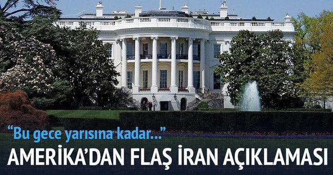 Beyaz Saray'dan İran açıklası