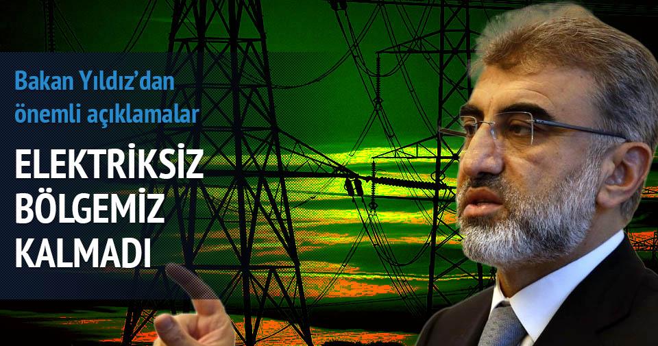 Bakan Yıldız'dan 'Elektrik kesintisi' açıklaması