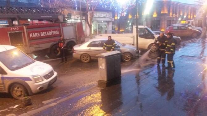Belediye Kars'ta Cadde Ve Kaldırımlar Yıkıyor