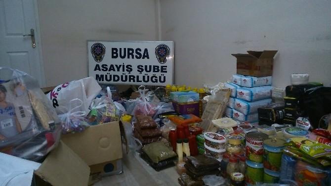 Bursa'da 24 İş Yerinden Çalınan 12 Bin Liralık Malzeme Sahiplerine İade Edildi