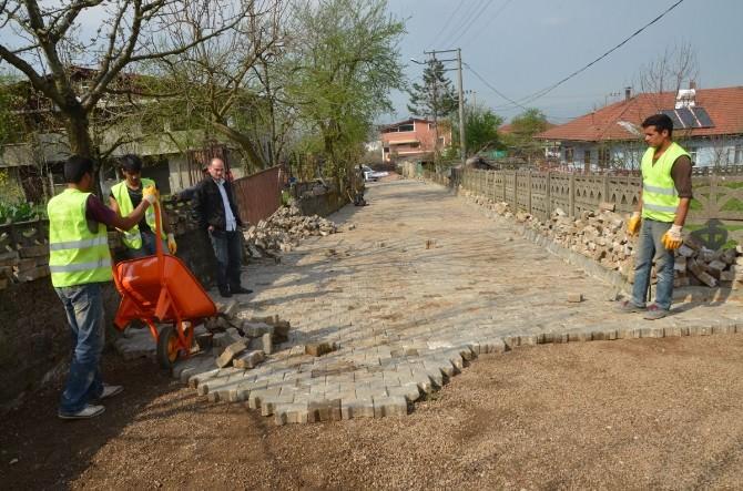 Nusretiye'de Yol Düzenleme Çalışması