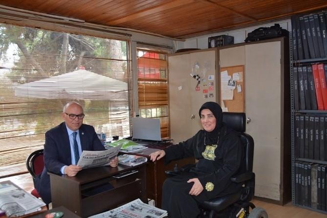 Süleymanpaşa Belediye Başkanı Eşkinat, Yeni İnan Gazetesi'ni Ziyaret Etti