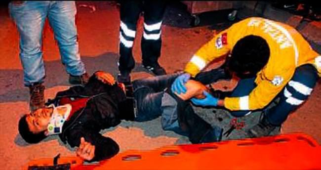 İki motor çarpıştı bir kişi yaralandı