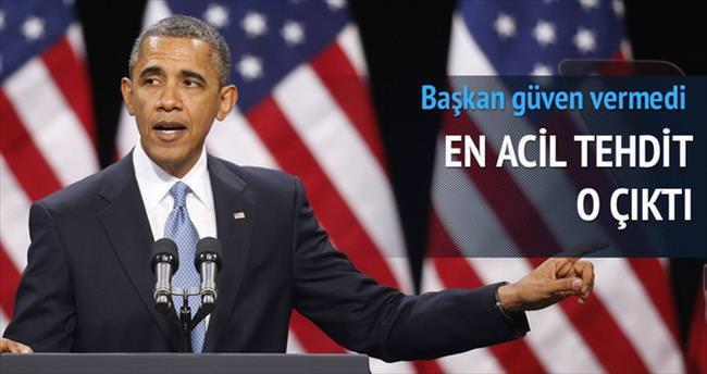 ABD'lilere göre en acil tehdit: Barack Obama
