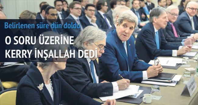 Kerry'den anlaşma yorumu: İnşallah