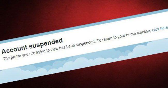 O twitter hesabı kapatıldı