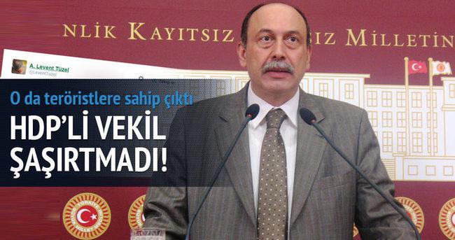 HDP'li vekil de teröristlere sahip çıktı