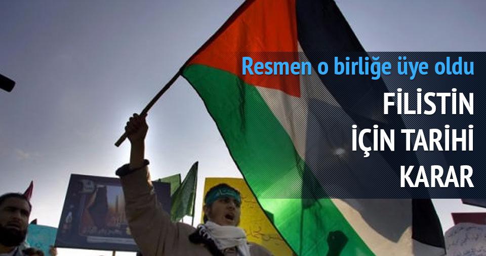 Filistin resmen üye oldu