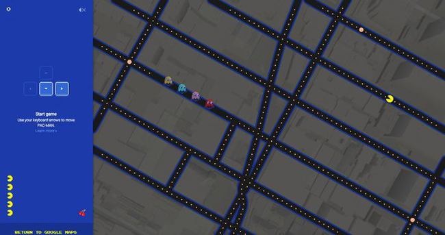 Google Maps Pac-Man'e dönüştü