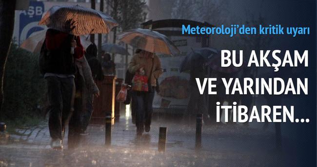 Meteoroloji uyardı bu akşam ve yarına dikkat! Hava Durumu - 1 Nisan 2014