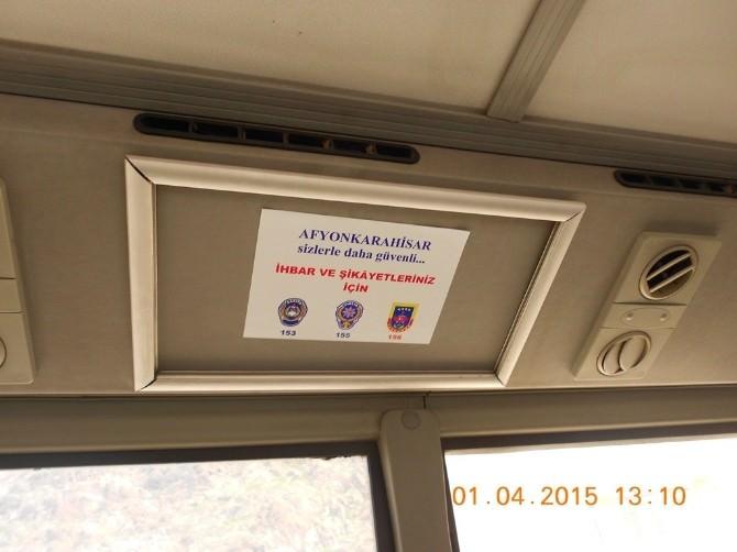 Afyonkarahisar'da Polis Toplu Ulaşım Araçları Denetimlerine Hız Verdi