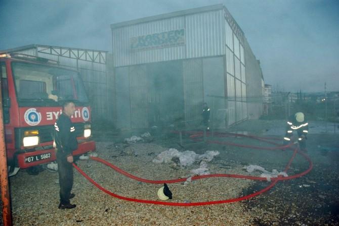Çamaşırhanedeki Yangın Korkuttu
