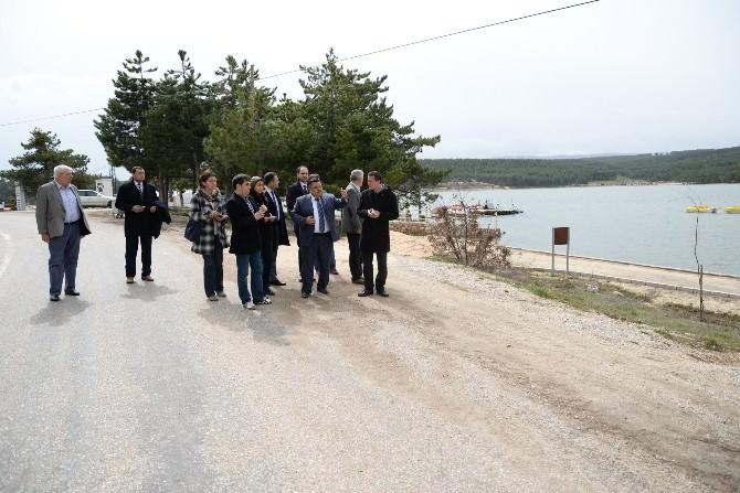 Belediye Başkanı Selim Yağcı, Pelitözü Mesire Yeri Gölpark'ta İncelemelerde Bulundu