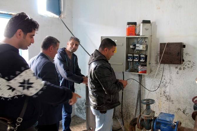 Kilis'te Köylerdeki Su Kuyuları İlaçlanıyor