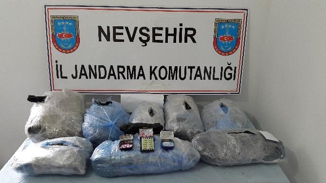 Nevşehir'de 16 Kilo Esrar Ele Geçirildi