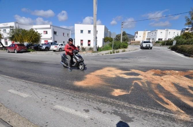 Motosiklet Sürücüleri Zor Anlar Yaşadı