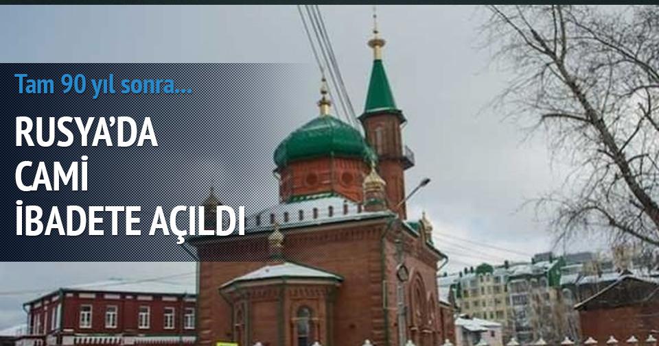 RUSYA'DA BİR CAMİ 90 YIL SONRA İBADETE AÇILDI